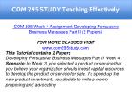 com 295 study teaching effectively 15