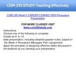 com 295 study teaching effectively 20