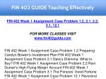 fin 402 guide teaching effectively 3