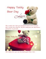 these teddy show that you deeply love