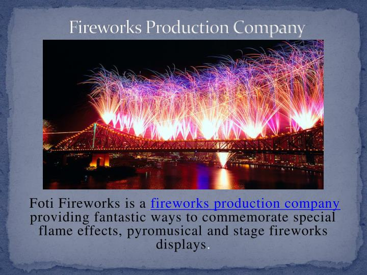 fireworks production company n.