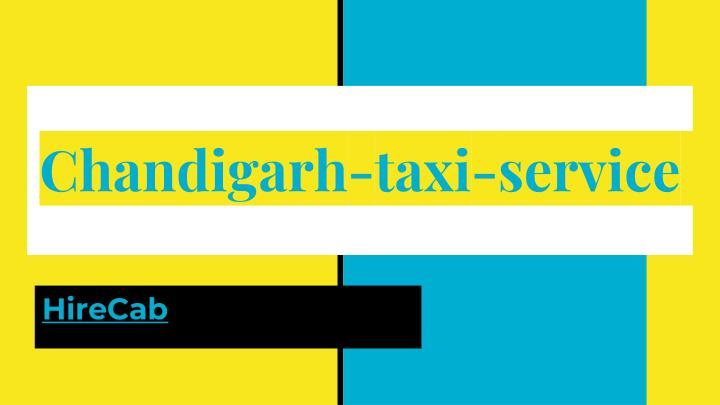 chandigarh taxi service n.