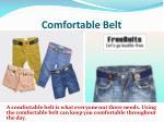 comfortable belt