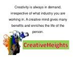 creativity is always in demand
