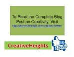 to read the complete blog post on creativity