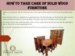 how to take care of solid wood furniture 2