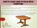 how to take care of solid wood furniture 3