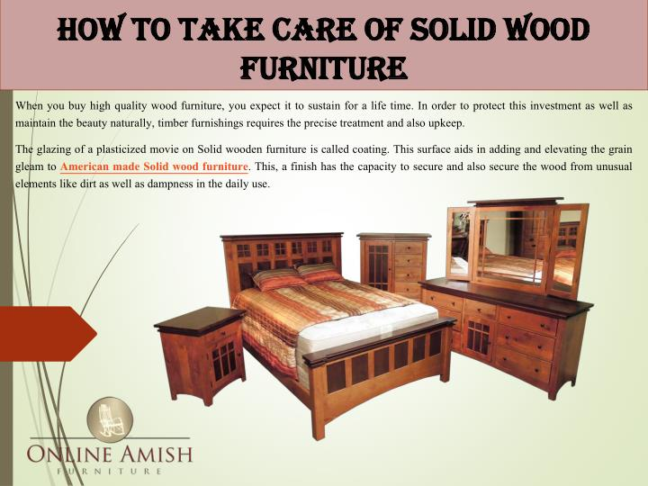 how to take care of solid wood furniture n.