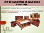 how to take care of solid wood furniture