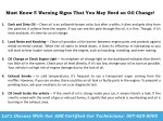 must know 5 warning signs that you may need