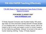 fin 486 paper teaching effectively 24