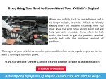 everything you need to know about your vehicle