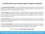 you must know some warning signs of engine going