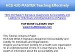 hcs 430 master teaching effectively 19