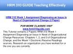 hrm 310 guide teaching effectively 1