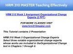 hrm 310 master teaching effectively 12