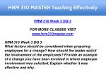 hrm 310 master teaching effectively 15