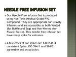 needle free infusion set