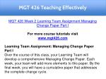mgt 426 teaching effectively 11