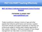 mgt 426 mart teaching effectively 26