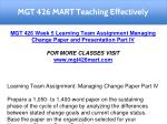mgt 426 mart teaching effectively 28