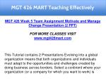 mgt 426 mart teaching effectively 29