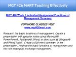 mgt 426 mart teaching effectively 6