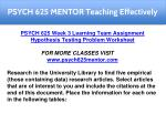 psych 625 mentor teaching effectively 11