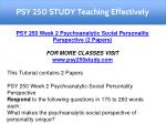 psy 250 study teaching effectively 2