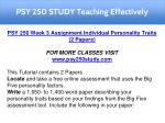 psy 250 study teaching effectively 3