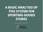 a basic analysis of pos system for sporting goods