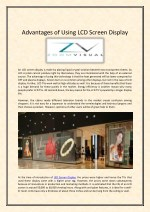 advantages of using lcd screen display