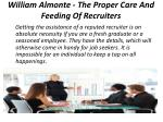 william almonte the proper care and feeding of recruiters 1