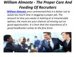 william almonte the proper care and feeding of recruiters 2