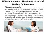william almonte the proper care and feeding of recruiters 3