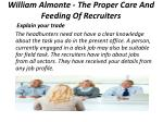 william almonte the proper care and feeding of recruiters 4