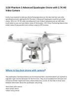 3 dji phantom 3 advanced quadcopter drone with