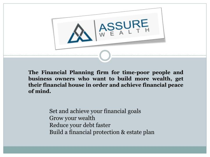 the financial planning firm for time poor people n.