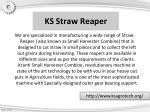ks straw reaper