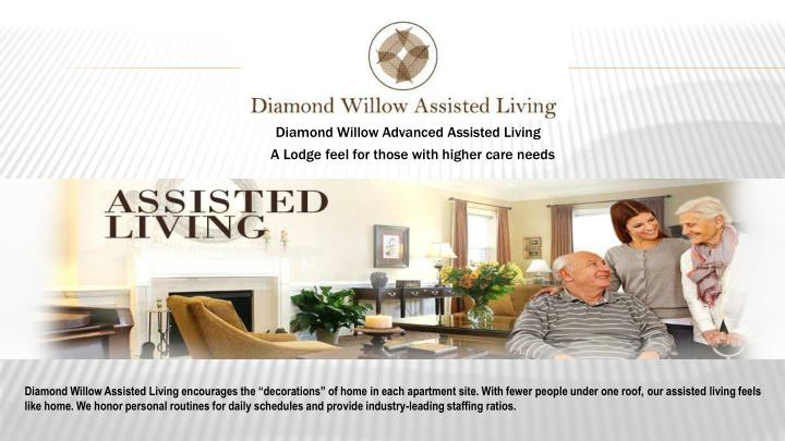 diamond willow advanced assisted living n.