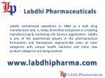 labdhi pharmaceuticals
