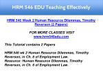 hrm 546 edu teaching effectively 5