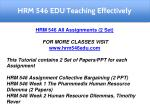 hrm 546 edu teaching effectively 8