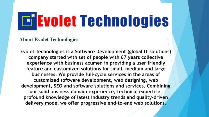 about evolet technologies n.
