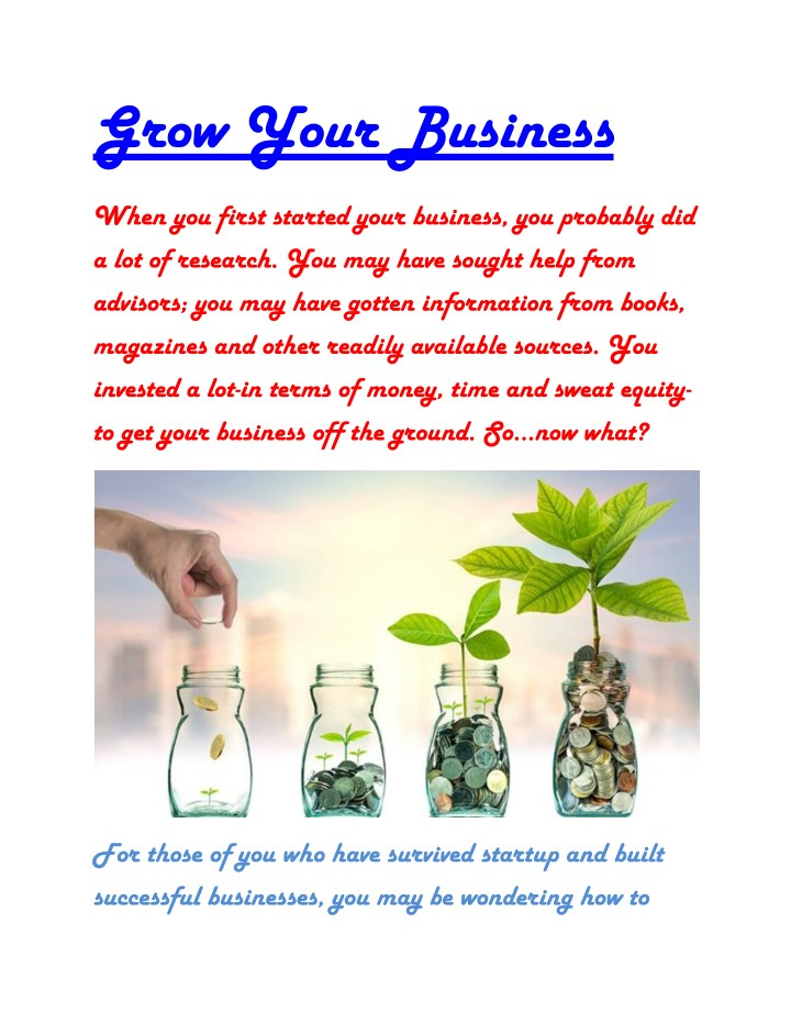 grow your business n.