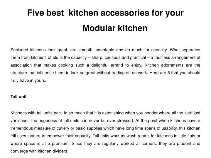 five best kitchen accessories for your modular n.