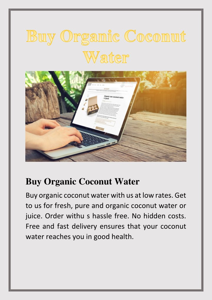 buy organic coconut water n.