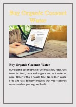 buy organic coconut water