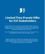 limited time presale ofer for ico stakeholders