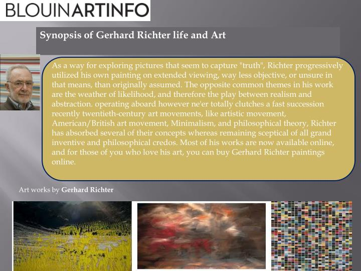 synopsis of gerhard richter life and art n.